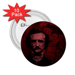 Edgar Allan Poe  2.25  Buttons (10 pack)
