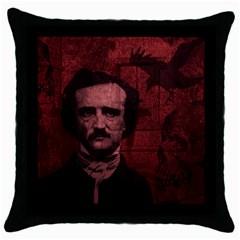 Edgar Allan Poe  Throw Pillow Case (Black)