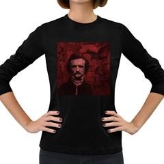 Edgar Allan Poe  Women s Long Sleeve Dark T-Shirts