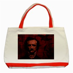 Edgar Allan Poe  Classic Tote Bag (Red)