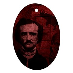 Edgar Allan Poe  Oval Ornament (Two Sides)