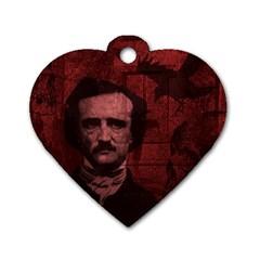 Edgar Allan Poe  Dog Tag Heart (One Side)