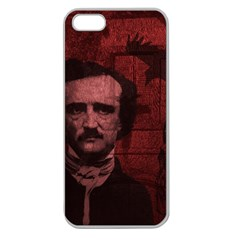 Edgar Allan Poe  Apple Seamless iPhone 5 Case (Clear)