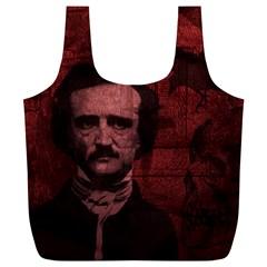 Edgar Allan Poe  Full Print Recycle Bags (L)