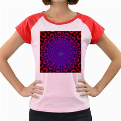 Binary Code Optical Illusion Rotation Women s Cap Sleeve T-Shirt