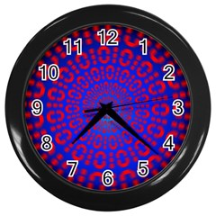 Binary Code Optical Illusion Rotation Wall Clocks (black)