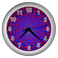 Binary Code Optical Illusion Rotation Wall Clocks (Silver)