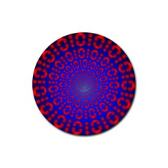 Binary Code Optical Illusion Rotation Rubber Coaster (Round)