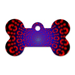 Binary Code Optical Illusion Rotation Dog Tag Bone (two Sides)