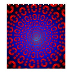 Binary Code Optical Illusion Rotation Shower Curtain 66  x 72  (Large)