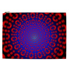 Binary Code Optical Illusion Rotation Cosmetic Bag (xxl)