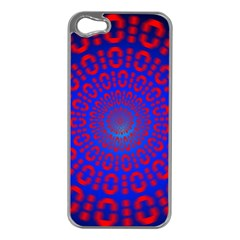Binary Code Optical Illusion Rotation Apple iPhone 5 Case (Silver)