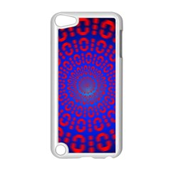 Binary Code Optical Illusion Rotation Apple iPod Touch 5 Case (White)