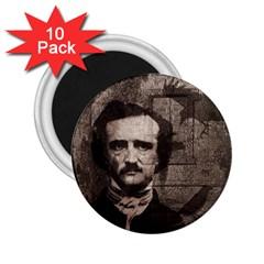 Edgar Allan Poe  2.25  Magnets (10 pack)