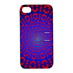 Binary Code Optical Illusion Rotation Apple iPhone 4/4S Hardshell Case with Stand