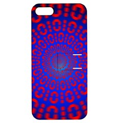 Binary Code Optical Illusion Rotation Apple iPhone 5 Hardshell Case with Stand