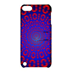 Binary Code Optical Illusion Rotation Apple iPod Touch 5 Hardshell Case with Stand