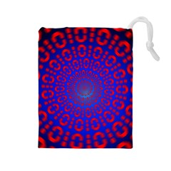 Binary Code Optical Illusion Rotation Drawstring Pouches (Large)
