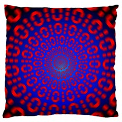 Binary Code Optical Illusion Rotation Large Flano Cushion Case (one Side)