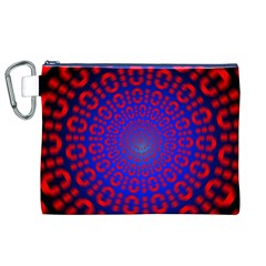 Binary Code Optical Illusion Rotation Canvas Cosmetic Bag (XL)