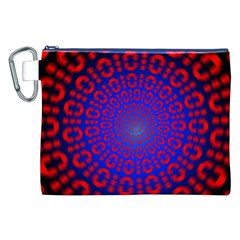Binary Code Optical Illusion Rotation Canvas Cosmetic Bag (XXL)