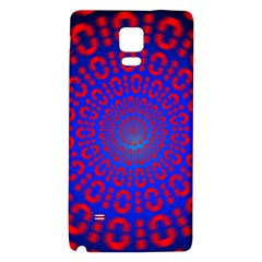 Binary Code Optical Illusion Rotation Galaxy Note 4 Back Case