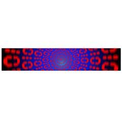 Binary Code Optical Illusion Rotation Flano Scarf (Large)