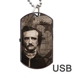Edgar Allan Poe  Dog Tag USB Flash (Two Sides)
