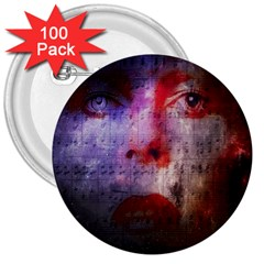 David Bowie  3  Buttons (100 pack)