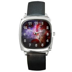David Bowie  Square Metal Watch