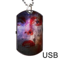 David Bowie  Dog Tag USB Flash (Two Sides)