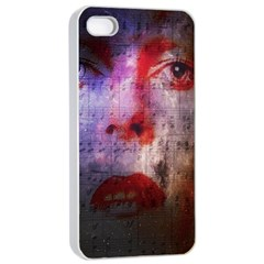 David Bowie  Apple iPhone 4/4s Seamless Case (White)