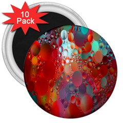 Texture Spots Circles 3  Magnets (10 pack)