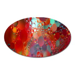 Texture Spots Circles Oval Magnet