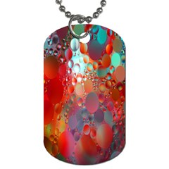 Texture Spots Circles Dog Tag (two Sides)