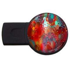 Texture Spots Circles USB Flash Drive Round (2 GB)