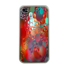 Texture Spots Circles Apple iPhone 4 Case (Clear)