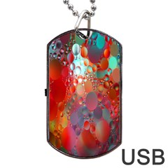 Texture Spots Circles Dog Tag USB Flash (Two Sides)