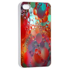 Texture Spots Circles Apple iPhone 4/4s Seamless Case (White)