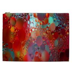 Texture Spots Circles Cosmetic Bag (XXL)
