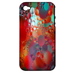 Texture Spots Circles Apple iPhone 4/4S Hardshell Case (PC+Silicone)