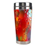 Texture Spots Circles Stainless Steel Travel Tumblers Left