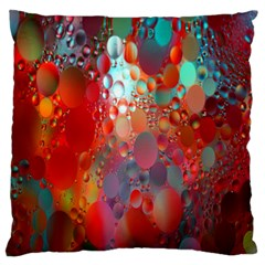 Texture Spots Circles Large Flano Cushion Case (One Side)