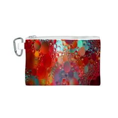 Texture Spots Circles Canvas Cosmetic Bag (S)
