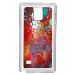 Texture Spots Circles Samsung Galaxy Note 4 Case (white)