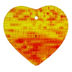 Bright Background Orange Yellow Ornament (heart)