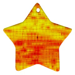 Bright Background Orange Yellow Ornament (Star)