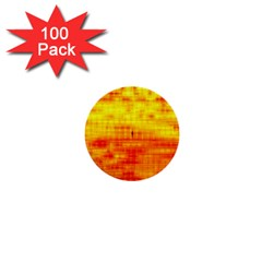 Bright Background Orange Yellow 1  Mini Buttons (100 Pack)