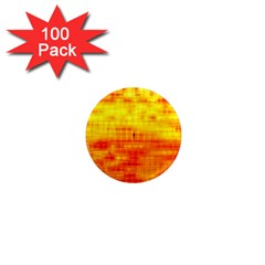 Bright Background Orange Yellow 1  Mini Magnets (100 pack)