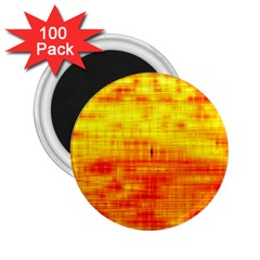 Bright Background Orange Yellow 2.25  Magnets (100 pack)